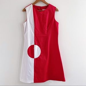 Marmalade red and white 60s Mod Circle Pocket Dress